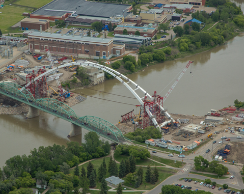 Walterdale Bridge Deck Erection Begins