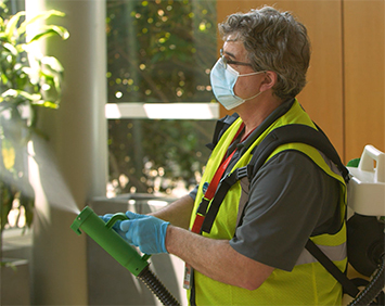 Providing Janitorial services to keep your community safe